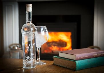 Gin Bottle By The Fire - Pentland Hills Gin